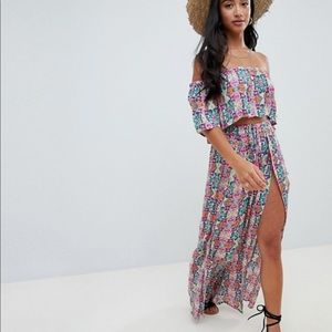 ASOS two piece mosaic tile beach maxi